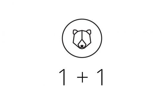 1+1 Brooch