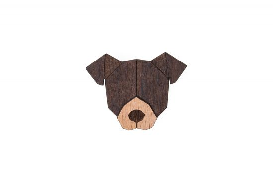 American Pit Bull Terrier Brooch