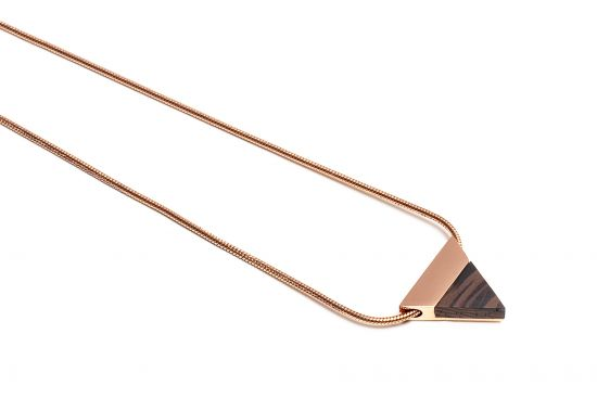 Rose Necklace Triangle