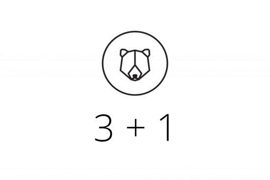 3+1 Brooch
