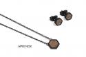 Hexagon Earrings & Necklace